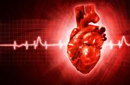 Stock Illustration of ecg abstract backgrounds with human 3d rendered heart