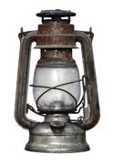 time worn kerosene lamp - stock photo