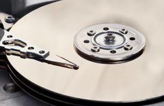 hard disc - stock photo