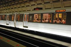 Washington metro unit at station Stock Photos