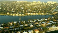 Stock Video Footage of Aerial coastal view residential properties nr Miami