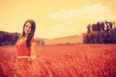 What dreams may come. rural female portrait Stock Photos