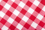 Stock Photo of red and white tablecloth