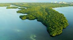 Aerial view of Florida coastal waters, Florida Stock Footage