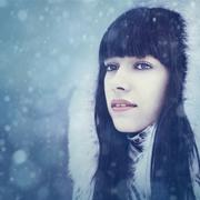 Stock Photo of winter girl. beauty female portrait