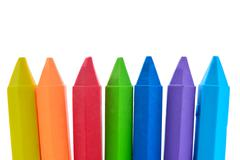 colorful eraser on white background - stock photo