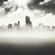 Abstract apocalyptic backgrounds for your design Stock Illustration