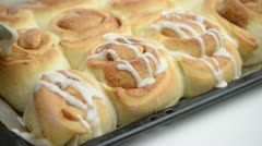 Cinnamon rolls Stock Footage