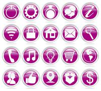 web icons - stock illustration