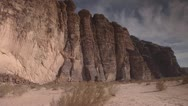 Stock Video Footage of Desert Mountains 2, Wadi Rum, Jordan
