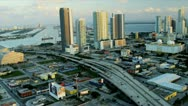 Stock Video Footage of Aerial view Miami Financial district, USA