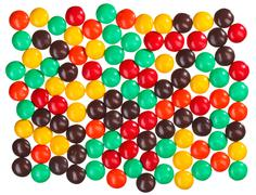 Multicolor bonbon sweets (ball candies) food background Stock Photos