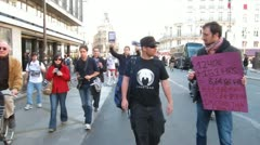 Occupy France Demonstration, Paris - stock footage