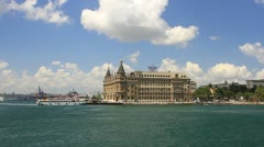 Haydarpasa from Kadikoy ferry - stock footage