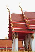 monastic roofs - stock photo