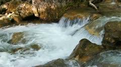 Beautiful mountain stream Stock Footage