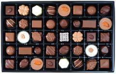 Various chocolate pralines Stock Photos