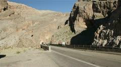 Traffic in Utah canyon HD7344 Stock Footage