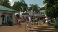 Stock Video Footage of Theme Park Visitors at Seaworld Orlando