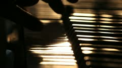 Piano playing, close up - stock footage