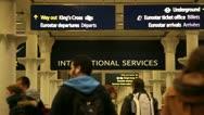 Stock Video Footage of ST Pancras International rail station London