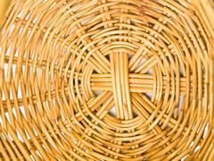 closeup of ratten wicker as background - stock photo