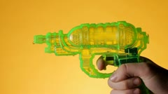 Water gun Stock Footage