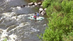 Full HD: White Water Rafting Stock Footage