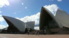Sydney Opera House glidetrack side Stock Footage