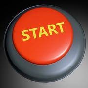 Stock Illustration of start 3d button