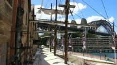 Sydney Harbour bridge glidetrack (23) Stock Footage