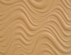 texture of wave pattern's white cement bas relief wall - stock photo