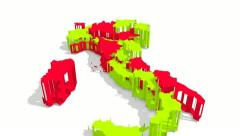 Italy - Map (HD) Stock Footage