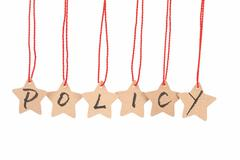 policy word - stock photo