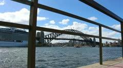 Sydney Harbour bridge glidetrack (27) Stock Footage