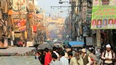 Chandi Chowk market Delhi, India, Asia Stock Footage