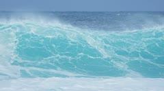 Giant Breaking Ocean Waves Stock Footage