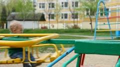 Child on the playground. Stock Footage