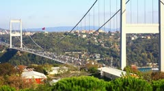 FSM Bridge and panoramic view of Bosphorus Stock Footage