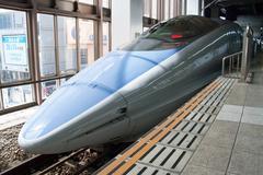 Shinkansen bullet train Stock Photos
