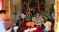 Wat Chalong Temple Phuket, Thailand Stock Footage