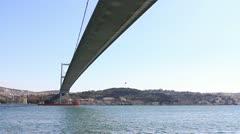 Bosporus Bridge in Istanbul, Turkey Stock Footage