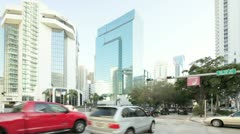 Brickell Avenue at 10th Street Stock Footage