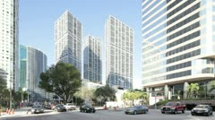 Brickell Avenue Miami Stock Footage