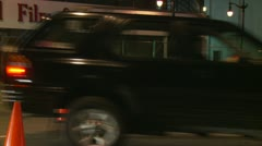 Black Stretch Limo Leaving Event Stock Footage