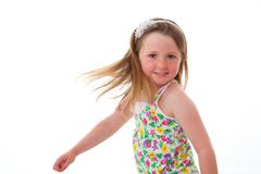 Young kid dancing Stock Photos