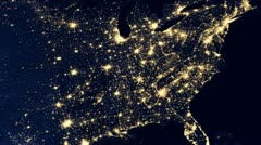 USA, United States of America by night Stock Footage