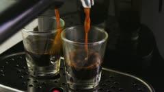 Espresso Machine Slow Motion Stock Footage