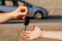 New car keys or car hire or rental Stock Photos