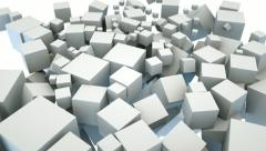 Boxes filling screen. Abstract background - stock footage